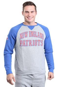 New England Patriots Raglan Formation Mens Fleece Sweater 1
