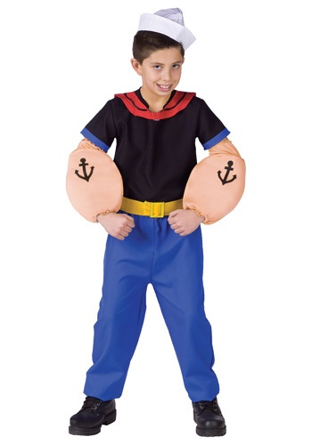 Kid's Popeye the Sailor Costume