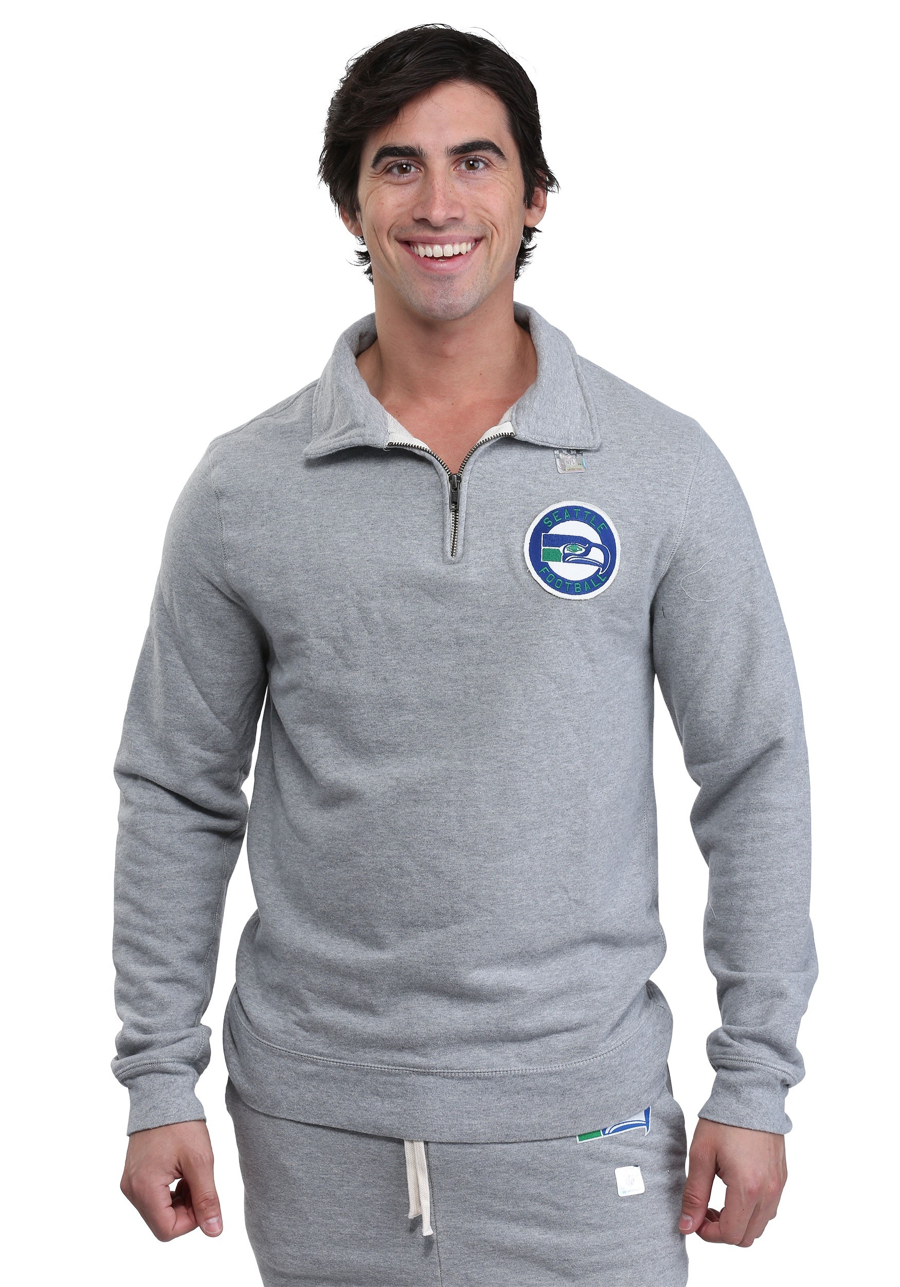Hot Seattle Seahawks Side Line Quarter Zip Sweater for Men