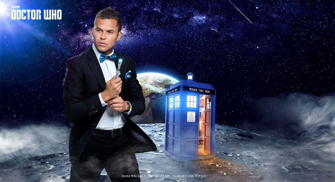 Doctor Who TARDIS Pop Interior Slim Fit Suit Jacket