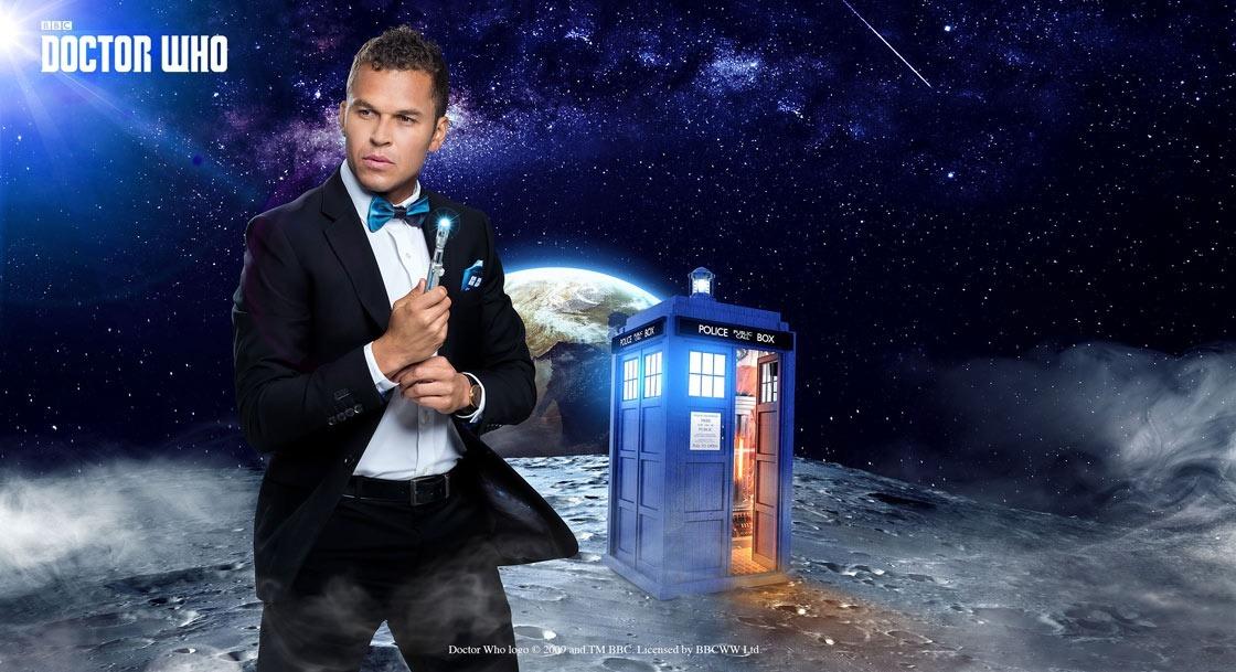 Doctor Who TARDIS Pop Interior Slim Fit Suit Pants