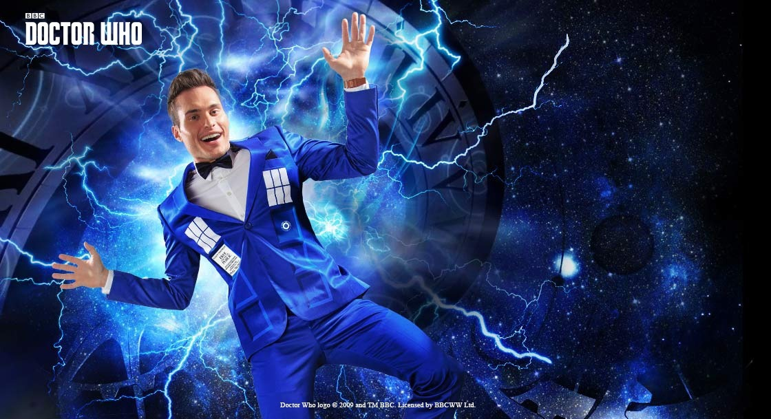 Doctor Who TARDIS Formal Slim Fit Suit Pants