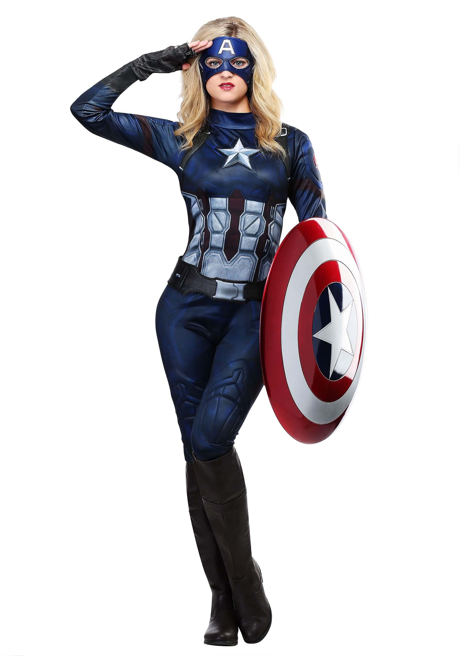 Captain America Costume For Women His costume was a challenge. captain america womens costume