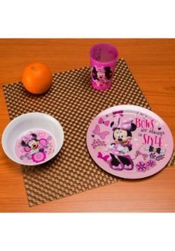 Minnie Mouse 3 Pc Dinnerware Set
