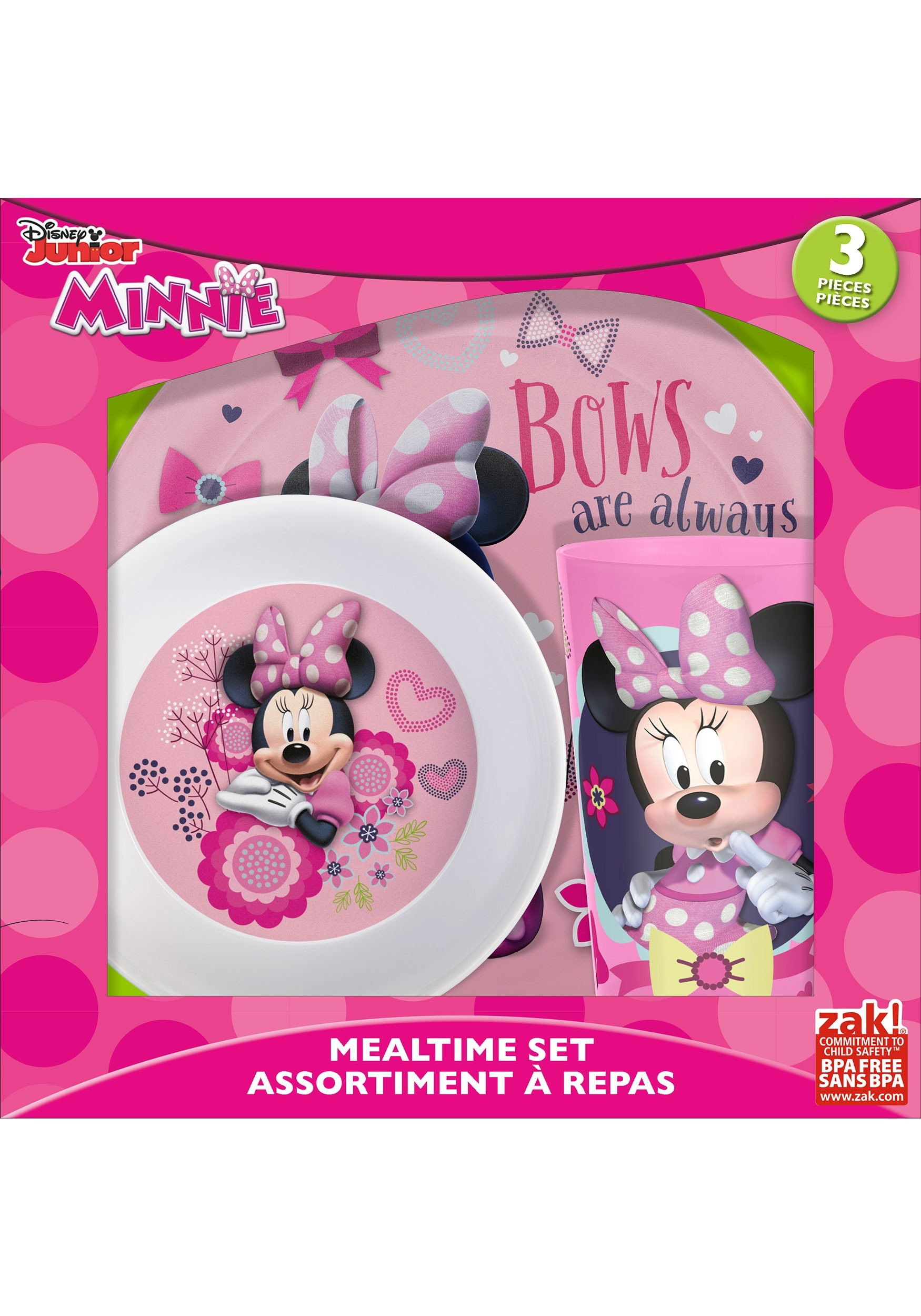 Minnie Mouse 3 Pc Dinnerware Set ZKMMCX-0392-E