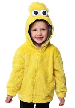 Sesame Street Big Bird Faux Fur Kids Costume Hoodie Update M