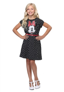 Minnie Mouse Polka Dot Girls Dress