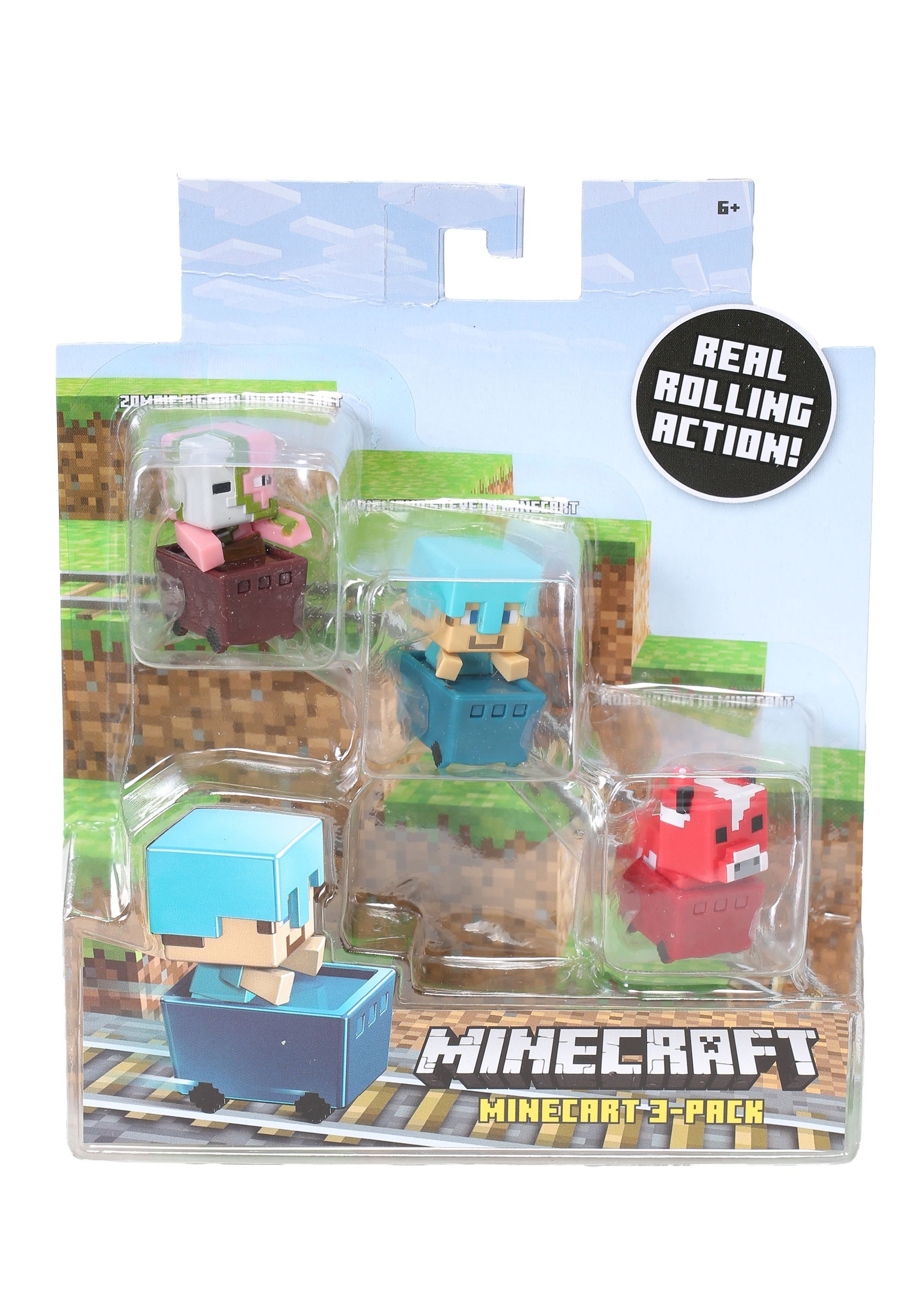 Minecraft Ocelot, Zombie, Enderman Figure 3 Pack MLFFK80