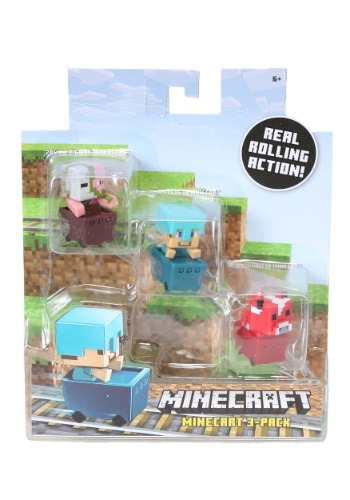 Minecraft Ocelot, Zombie, Enderman Figure 3 Pack