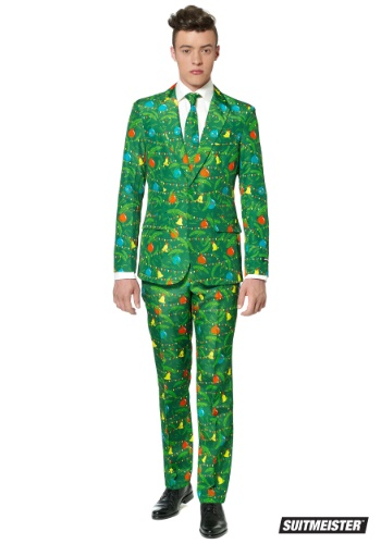 Men's Green Christmas Tree Suitmiester