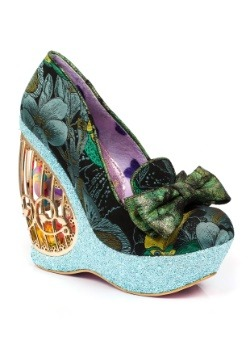 Irregular Choice Ornate Agador Bird Wedge High Heels