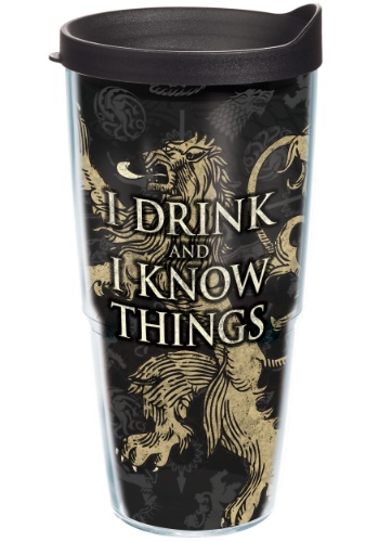 Game of Thrones House Lannister 24 oz Tumbler w/ Black Lid