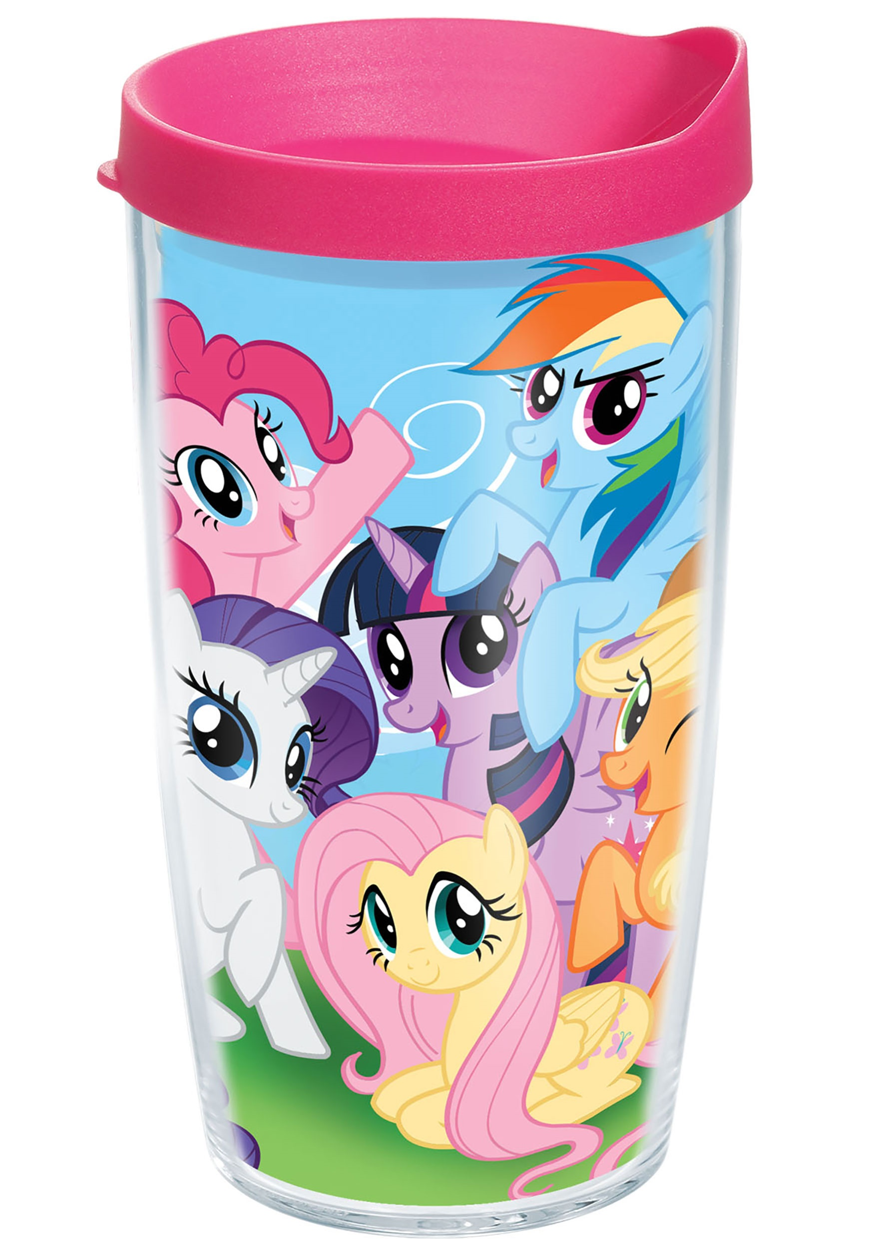 My Little Pony Mane 6 16 oz Tumbler w/ Pink Lid TER1228994