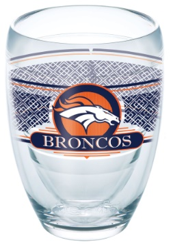 Denver Broncos 9 oz Stemless Wine Glass