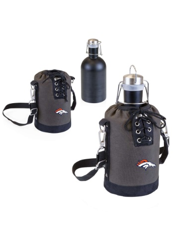 NFL Denver Broncos Growler Tote w/ Stainless Steel Growler