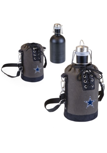 NFL Dallas Cowboys Growler Tote w/ Stainless Steel Growler