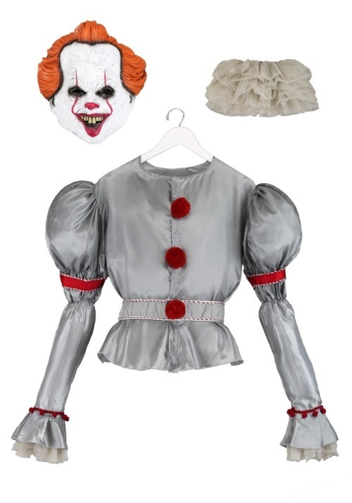 Adult Deluxe IT Movie Pennywise Costume2