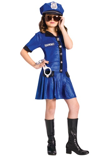 Kids Sassy Police Officer Costume