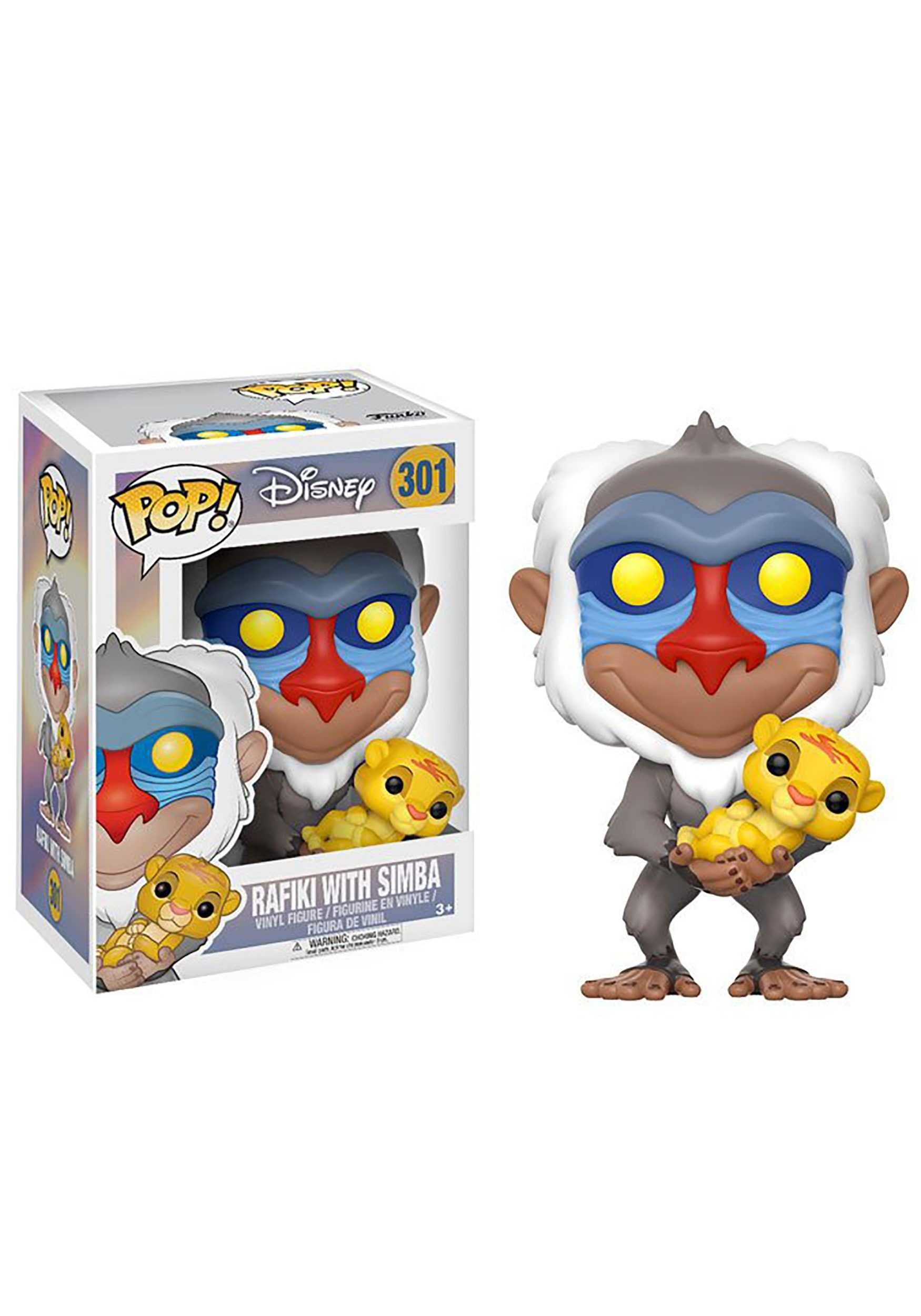 POP Lion King Rafiki Holding Baby Simba Vinyl Figure