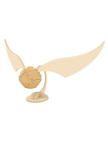 Harry Potter Golden Snitch 3D Wood Model & Booklet
