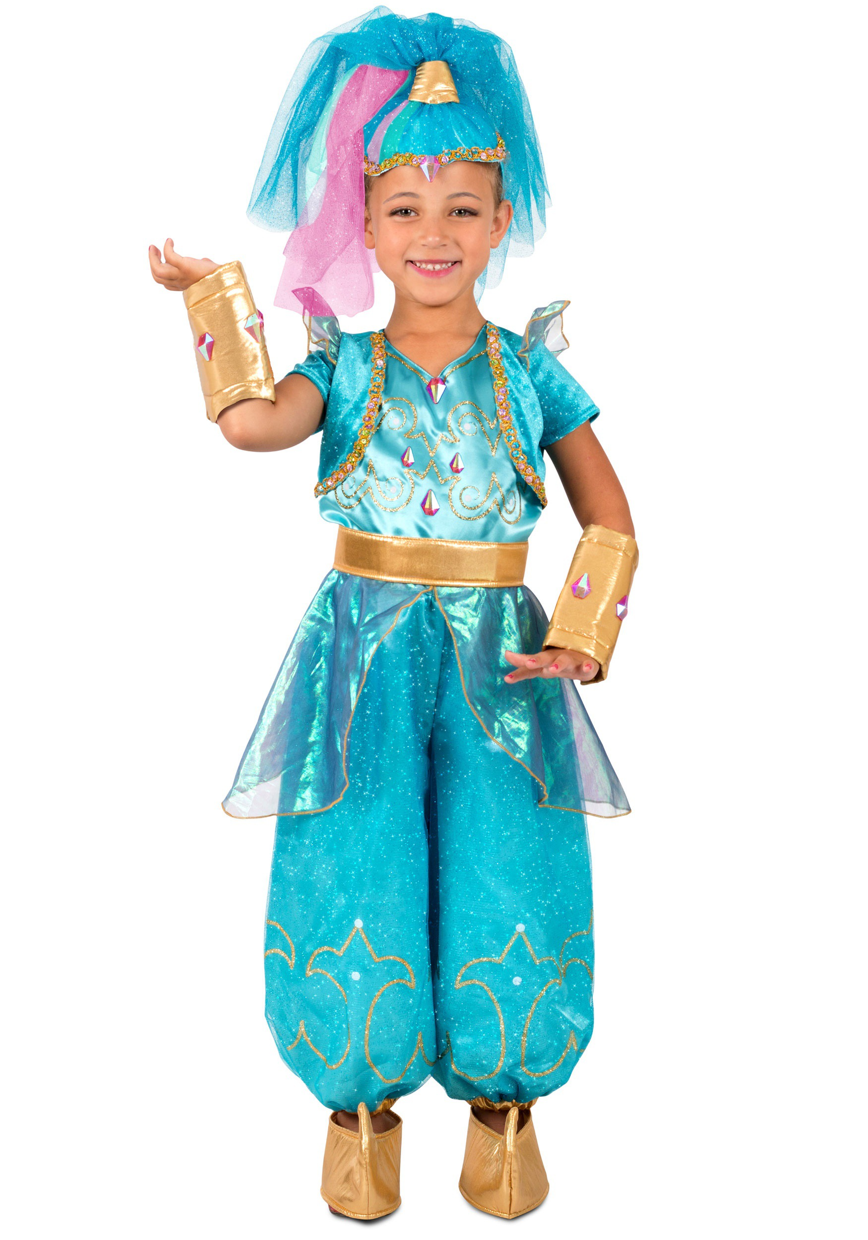 Girls Shimmer and Shine Genie Shimmer Costume