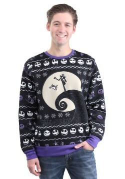 Nightmare Before Christmas Patterned Jack Mens Ugly Christmas Sweater