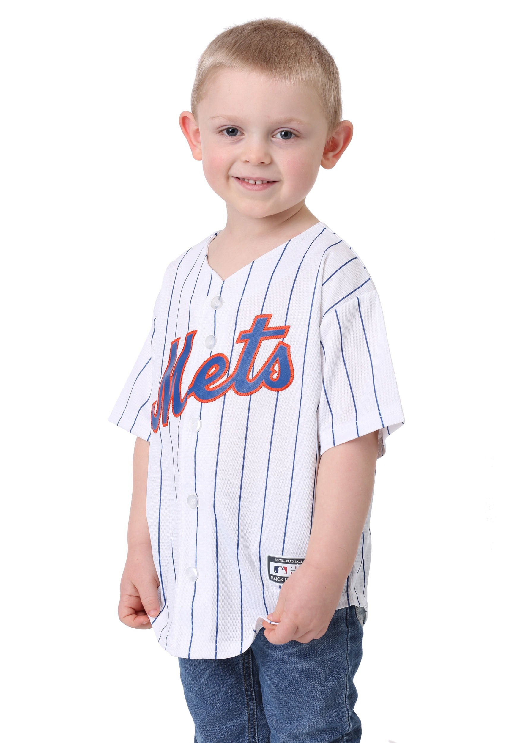 reputable site dfbc5 a3716 New York Mets Home Replica Blank Back Child Jersey