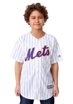 Mets Home Replica Blank Back Jersey for Kids