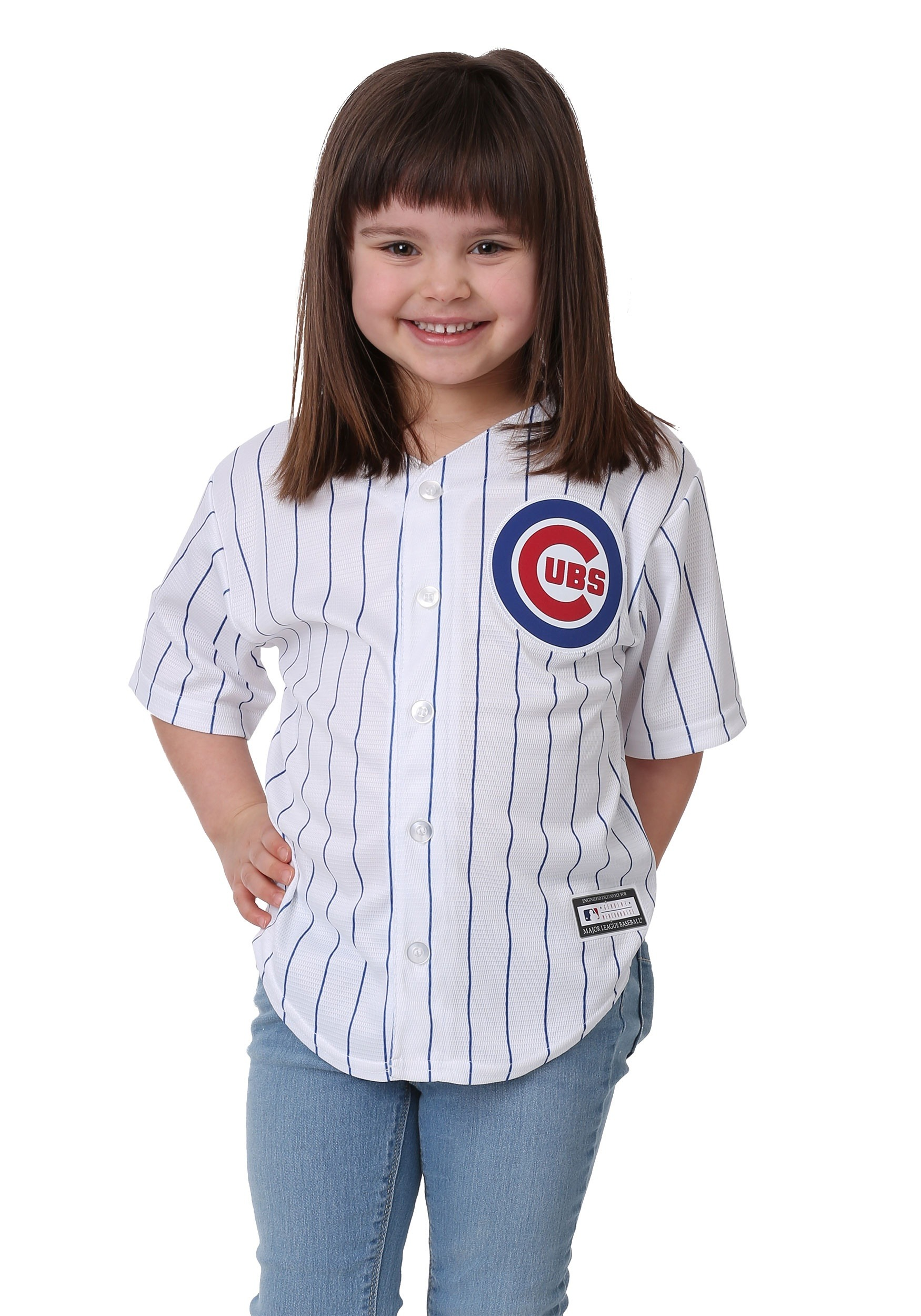 Chicago Cubs Home Replica Blank Back Jersey for Kids 73fd91bce