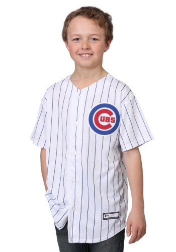 Cubs Home Replica Blank Back Youth Jersey