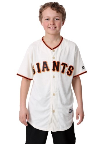Giants Home Replica Blank Back Youth Jersey