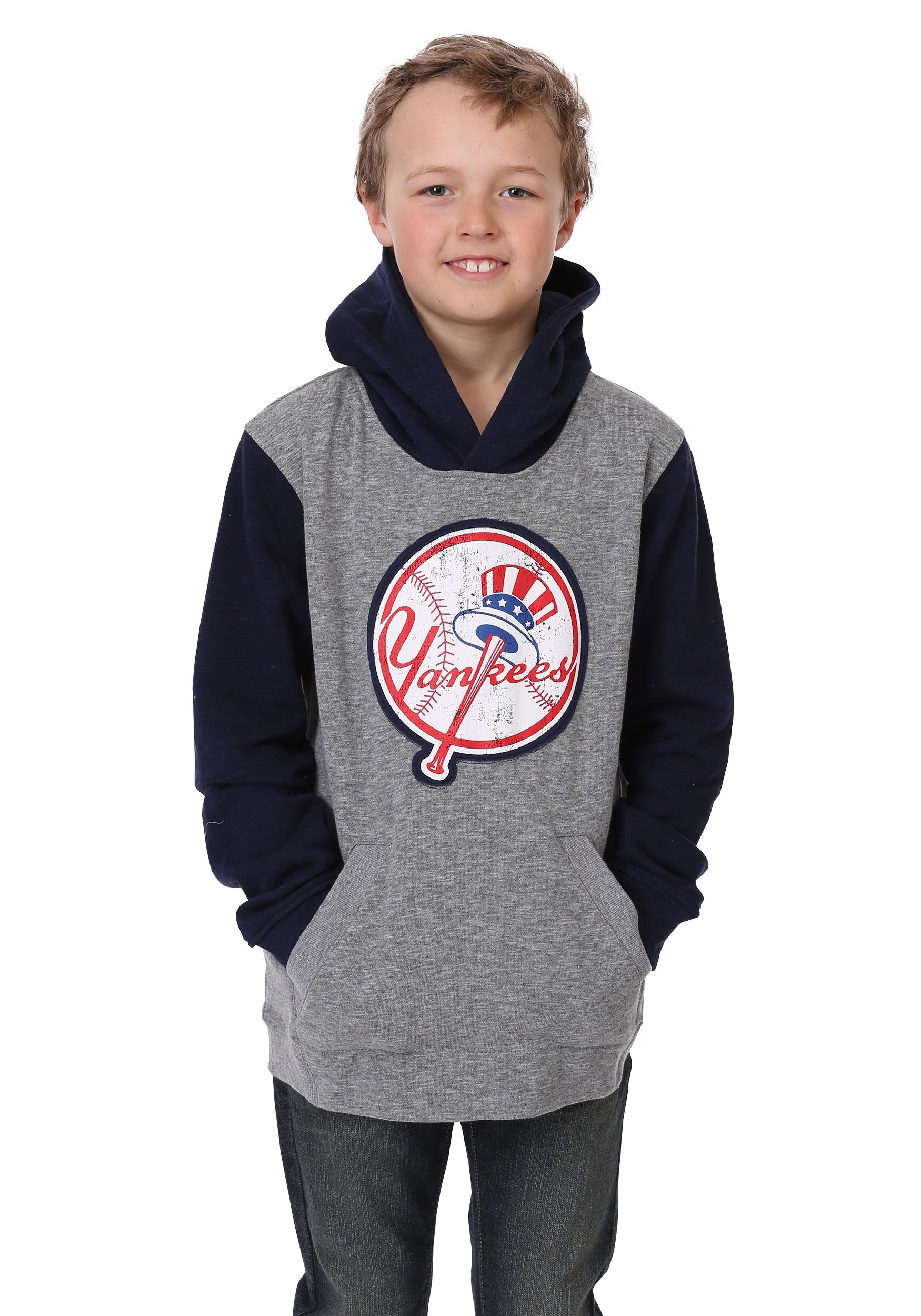 hot sale online 4075e 01cad Yankees New Beginnings Pullover Hooded Youth Sweatshirt