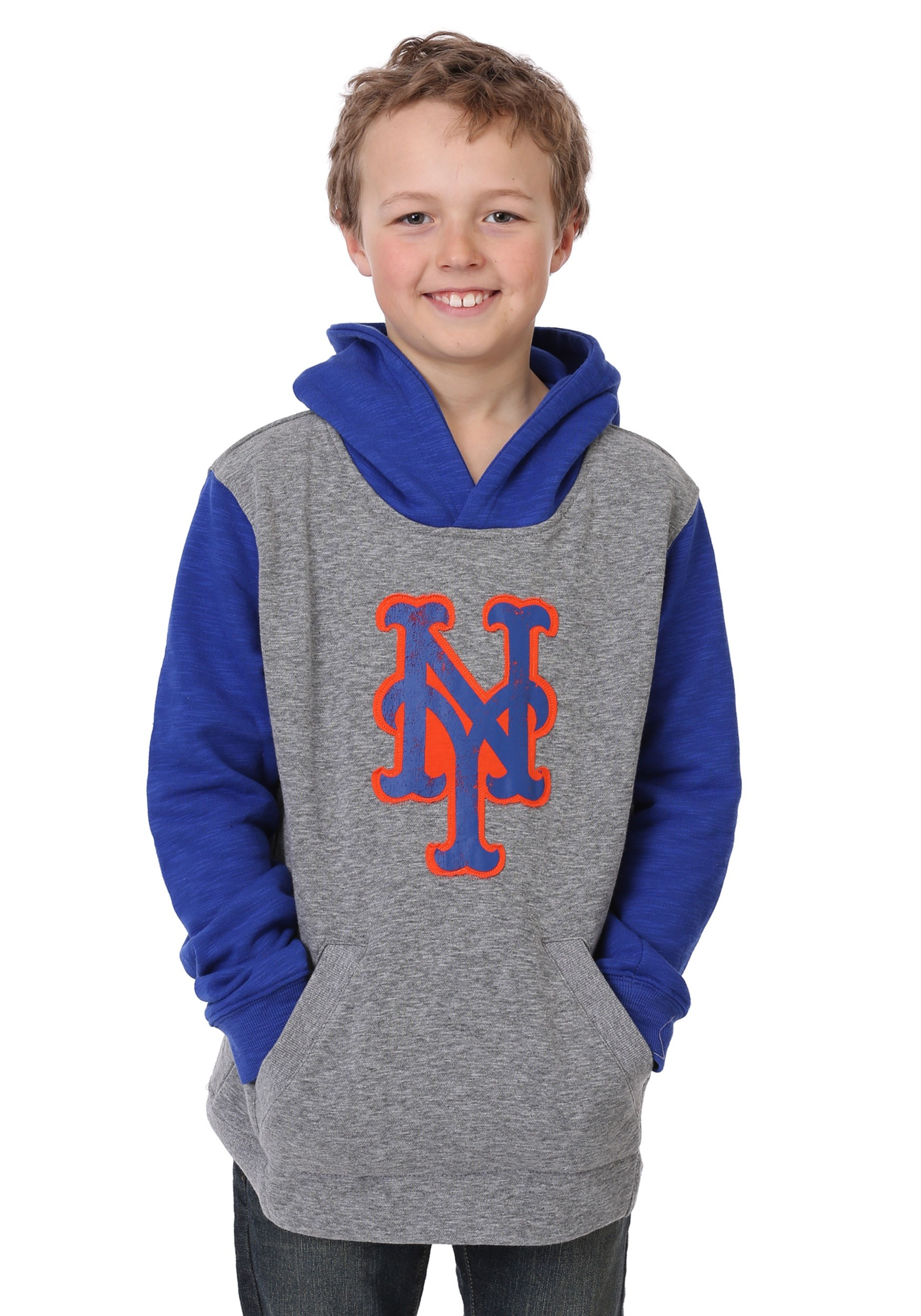 brand new 943a5 a7bd0 Mets New Beginnings Pullover Hooded Youth Sweatshirt