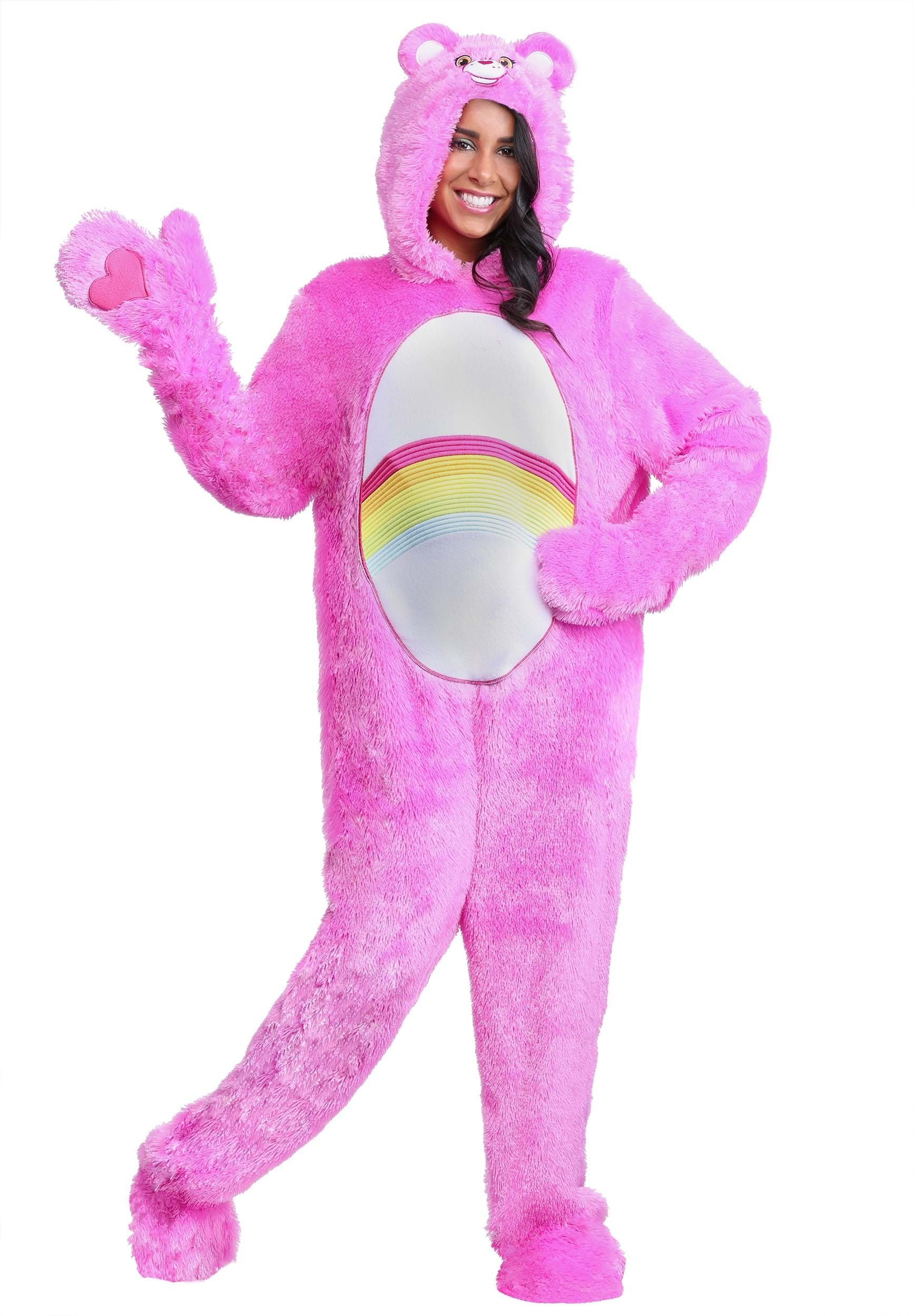 Adult plus size classic cheer care bears costume3