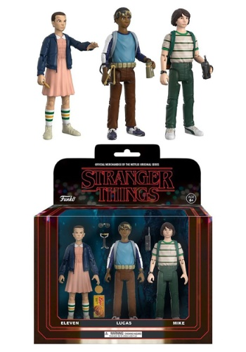 Action Figure: Stranger Things 3 pack (Eleven, Lucas, Mike) FN20833
