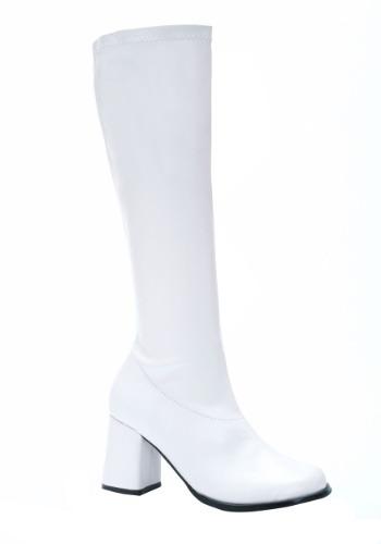 White Gogo Womens Boots