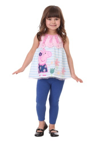 Peppa Pig Flowers Tank and Leggings Set