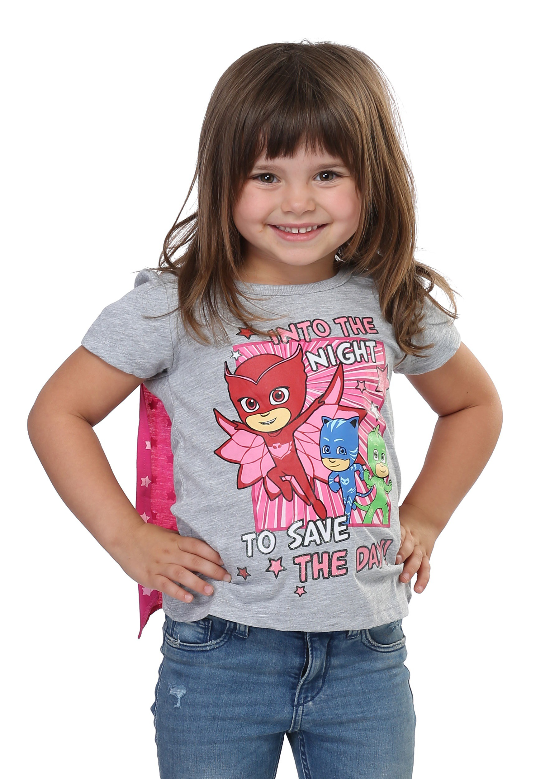 f1875d12 PJ Masks 'Save the Day' Caped Girls Tee