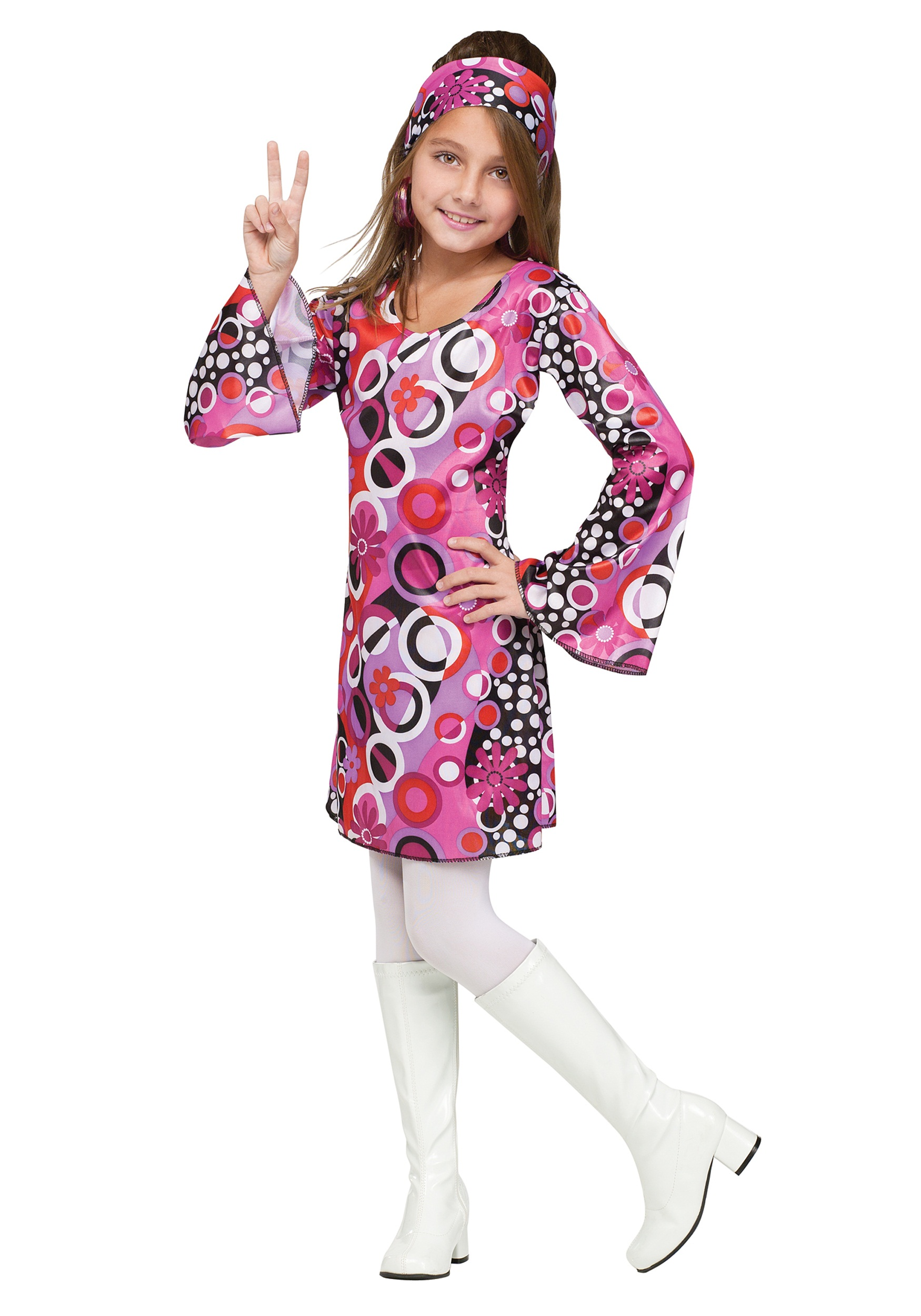 Feelinu0027 Groovy Girls Costume  sc 1 st  Fun.com & Girlu0027s Feelinu0027 Groovy Costume
