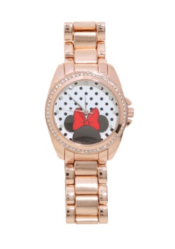Minnie Mouse Crystal and Rose Gold Bracelet Watch