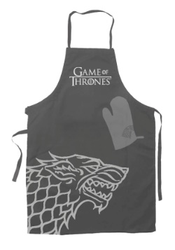 Game of Thrones Stark Oven Mitt and Apron Set