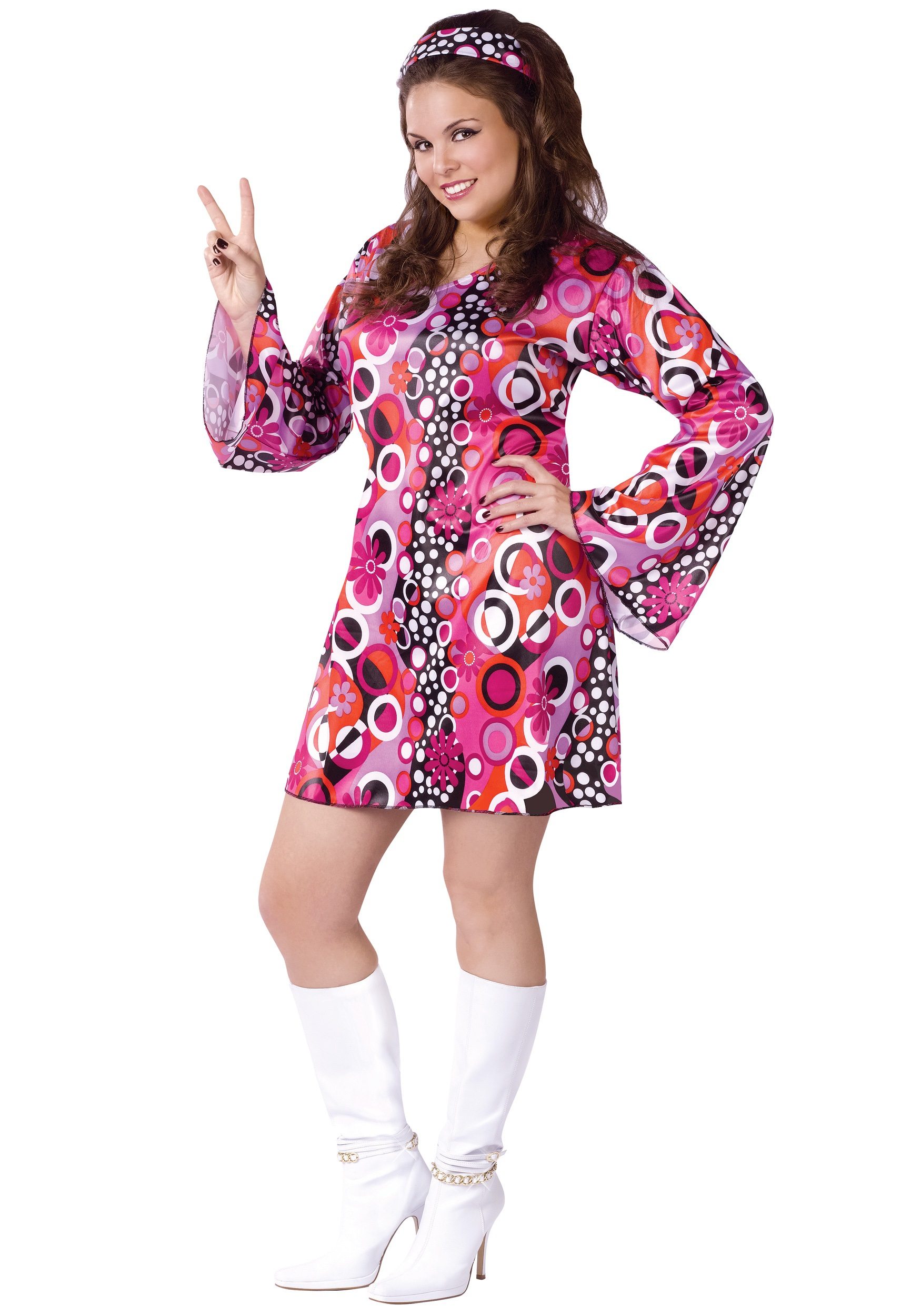 Plus Size Feelin\' Groovy Dress Costume