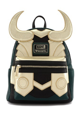 Avengers Loki Faux Leather Mini Loungefly Backpack