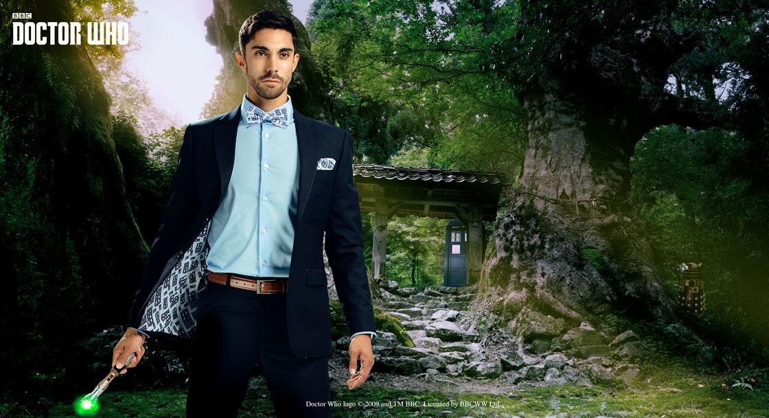 Doctor Who TARDIS Subtle Slim Fit Suit Jacket