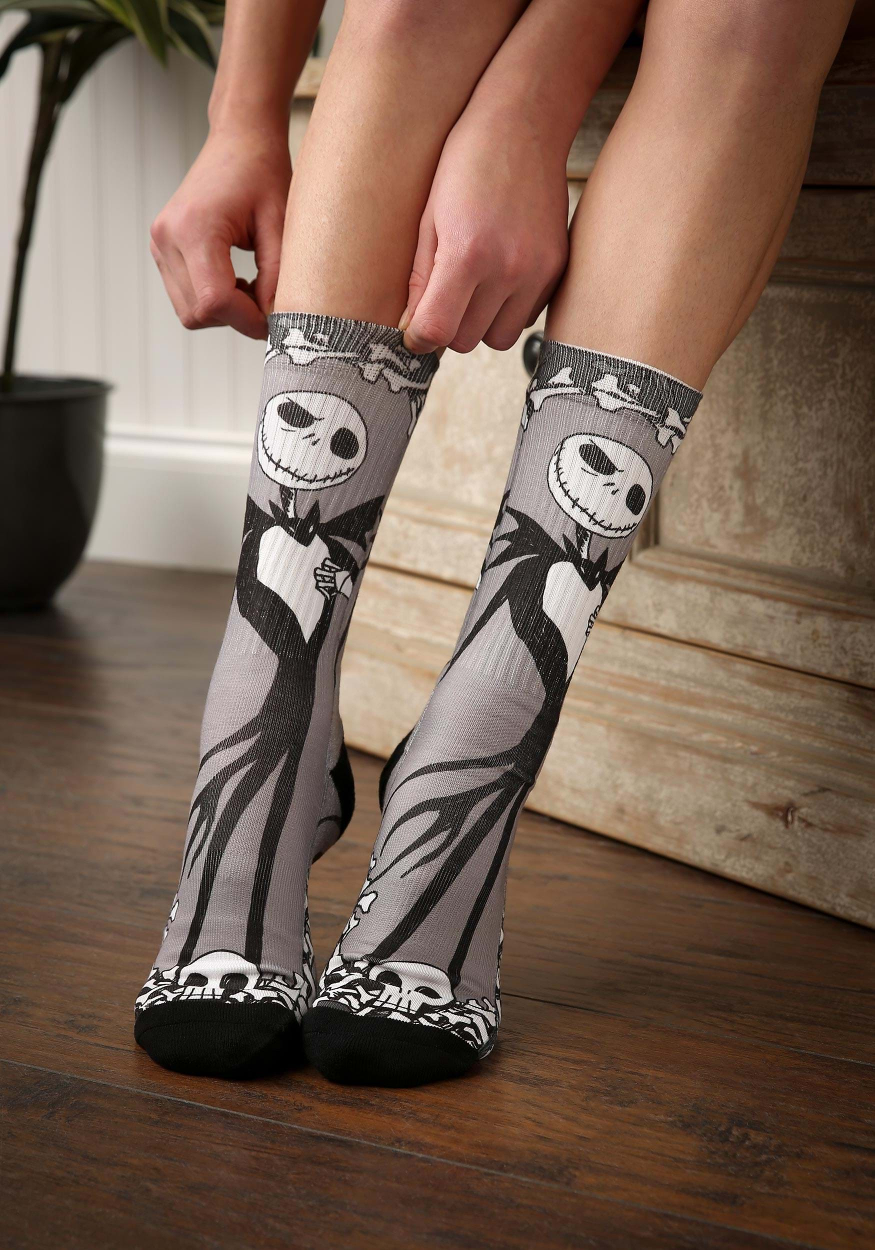 Nightmare Before Christmas Jack Bones Sublimated Socks