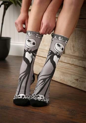 Nightmare Before Christmas Jack Bones Sublimated Socks-Updat
