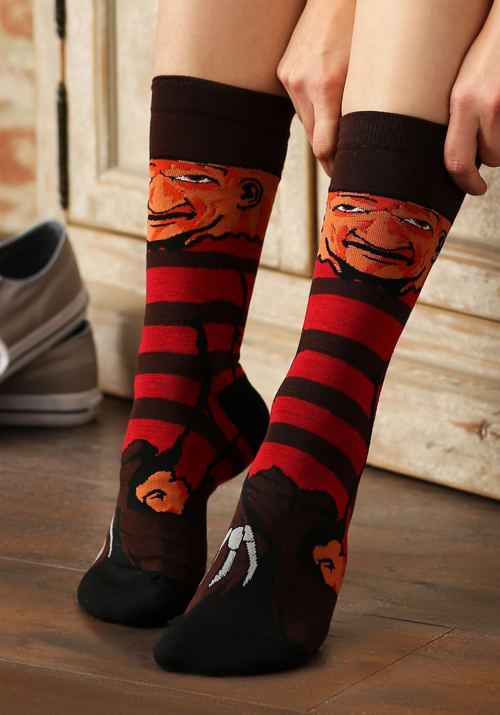 Nightmare on Elm Street Freddy Krueger Sublimated Socks BWCQ5BC8NOE00RE00