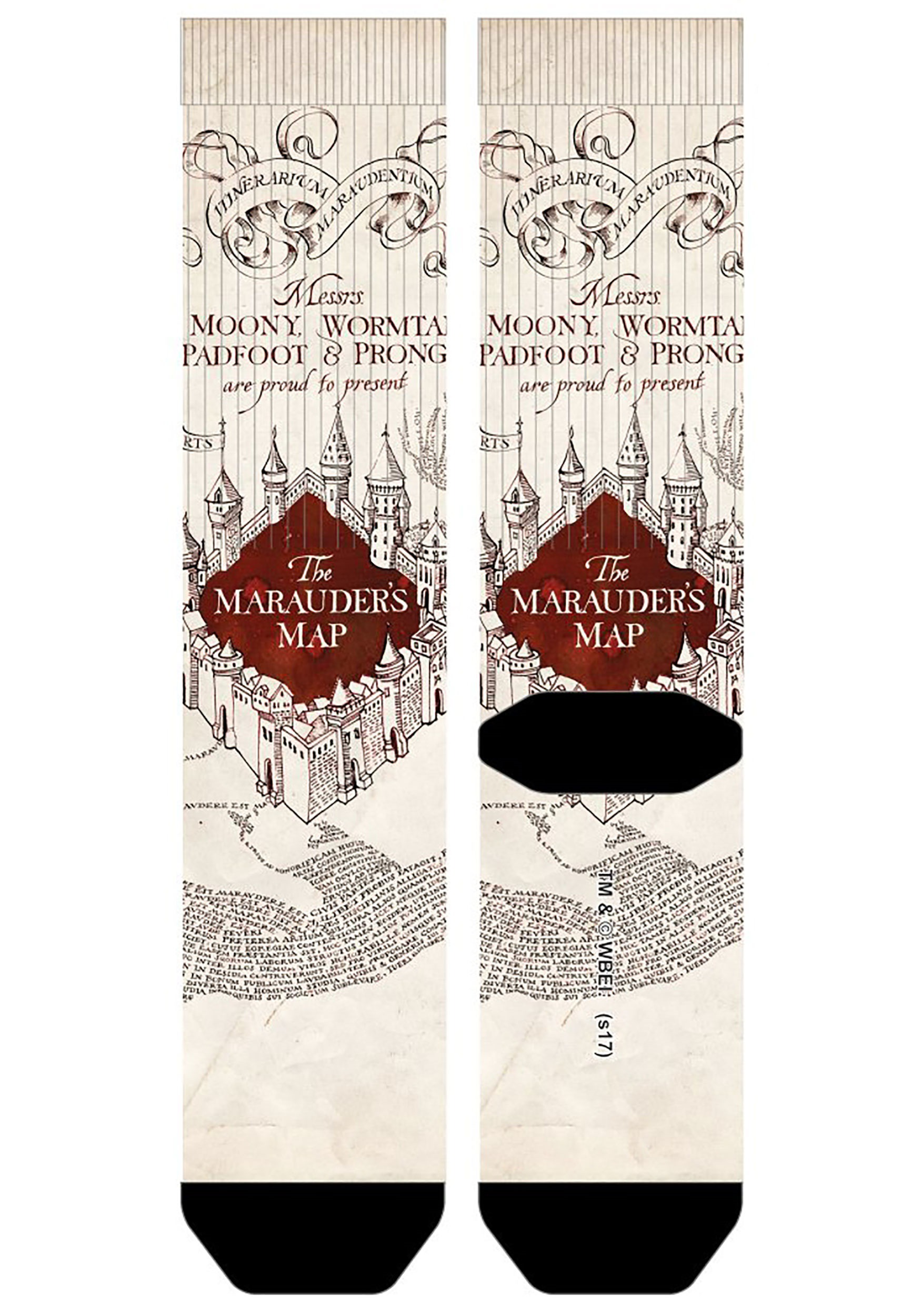 harry potter marauders map sublimated socks. harry potter marauder's map sublimated socks