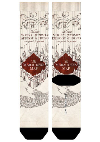 Harry Potter Marauder's Map Sublimated Socks