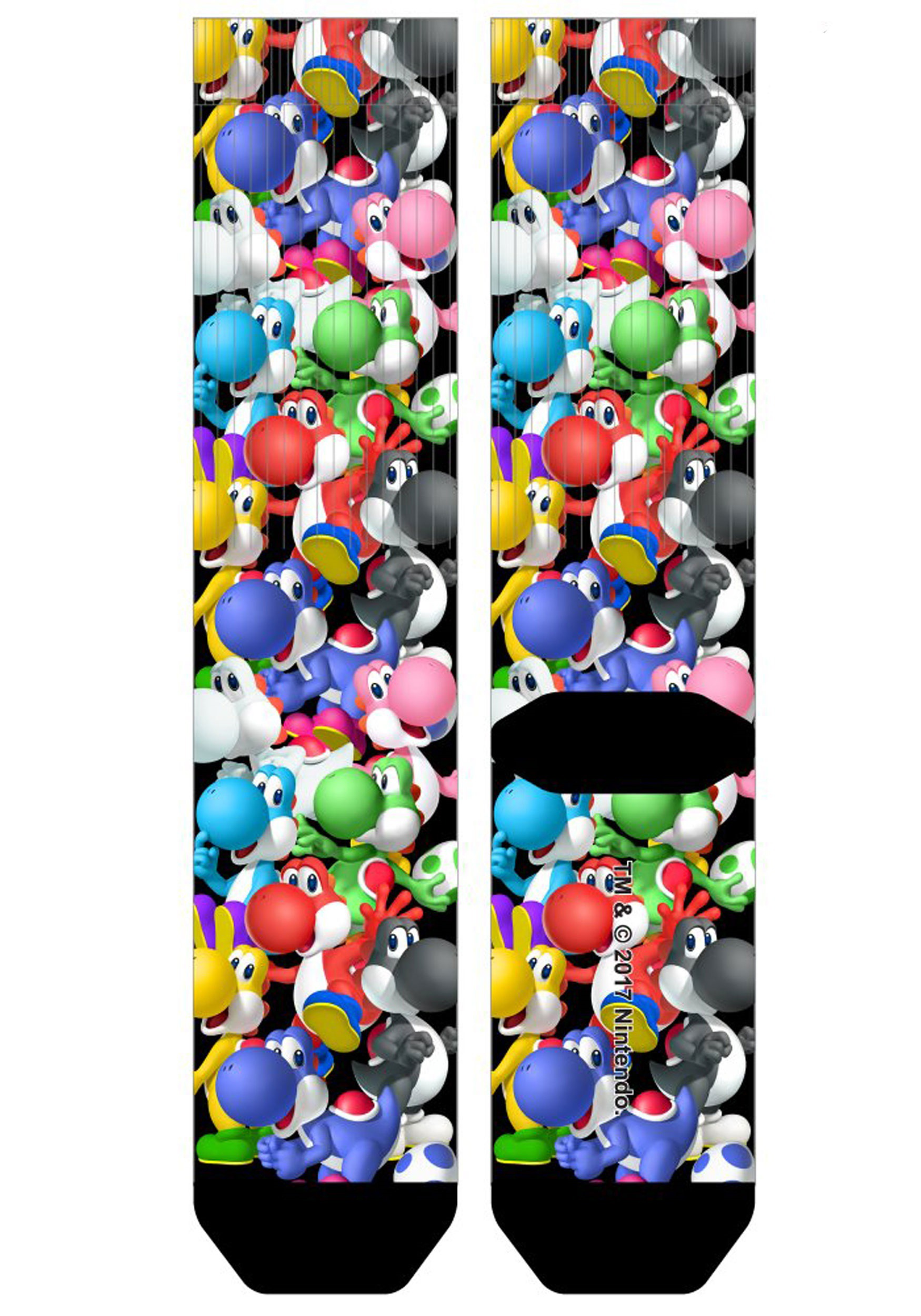 Super Mario Yoshi All Over Print Sublimated Socks Adult